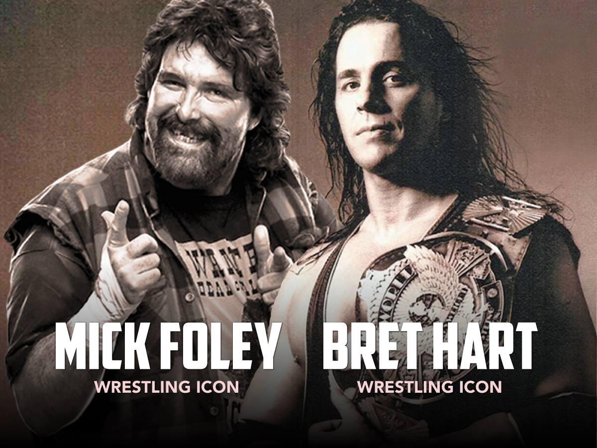 Mick Foley & Bret Hart