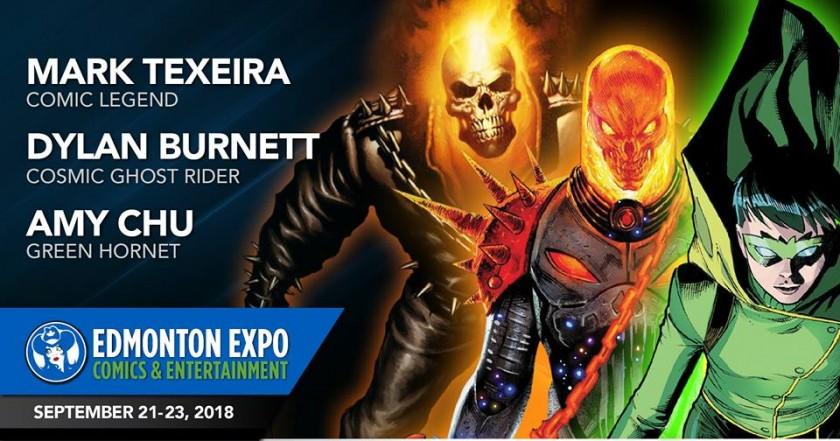 Mark Texeira, Dylan Burnett (Cosmic Ghost Rider) & Amy Chu (Green Hornet)