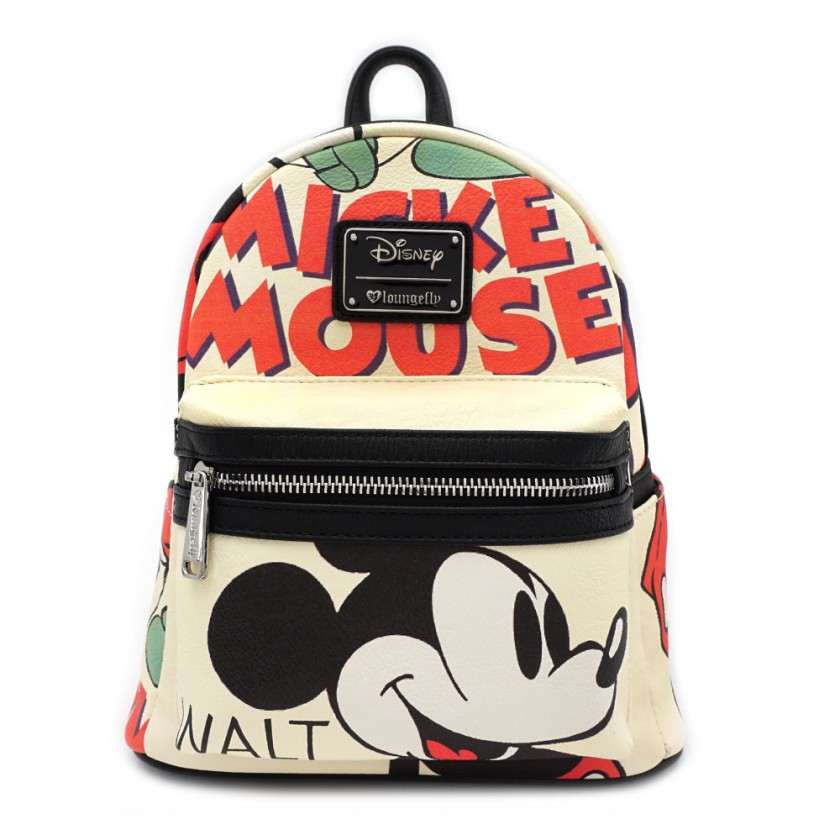 Disney - Mickey Mouse Classic Print Faux Leather Mini Backpack by ... 938af25701ad9