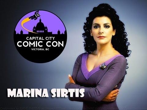 Marina Sirtis - Deanna Troi on Star Trek:The Next Generation