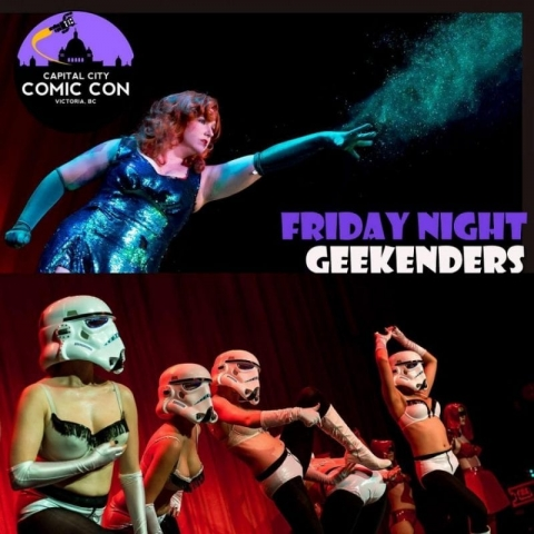 Nerdlesque is coming back to Capital City Comic Con! Friday, March 22- Two Shows with Geekenders !  Love in Alderaan Places and Talk Nerdy To Me.