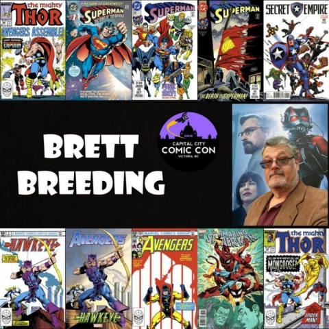 Brett Breeding - Comic book artist, illustrating and creating characters for Marvel and DC Comics