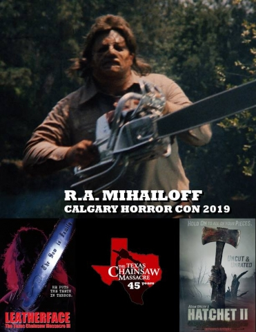 "R.A. Mihailoff - Leatherface in ""Leatherface: Texas Chainsaw Massacre III"""