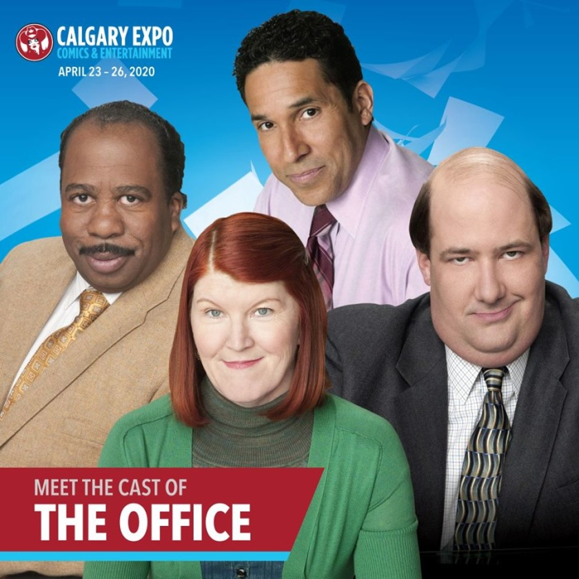 The Office's Oscar Nuñez, Kate Flannery, Leslie Baker, and Brian Baumgartner