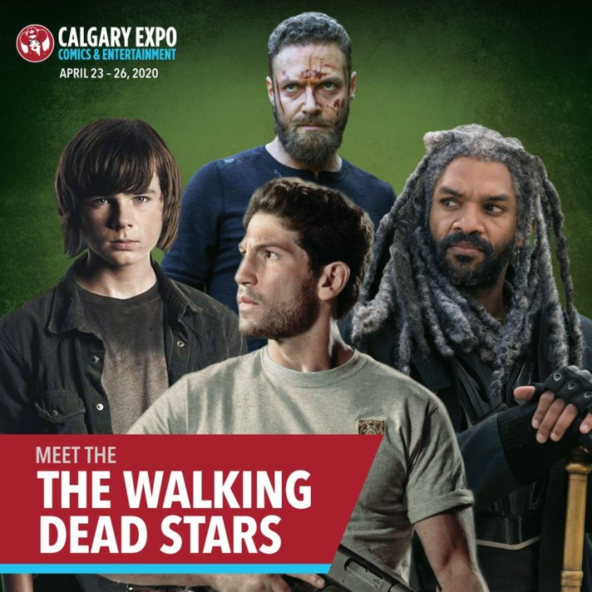 Walking Dead's Jon Bernthal, Khary Payton, Ross Marquand, and Chandler Riggs